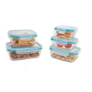 Airtight Locking Glass Storage Container Set (10-piece)