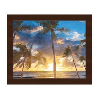 'Sunset Beach' Canvas Framed Wall Art