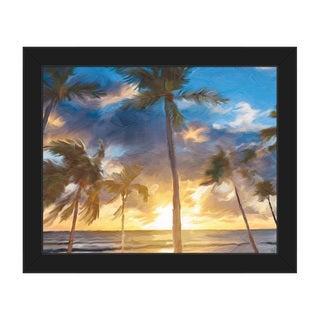 'Sunset Beach' Framed Canvas Wall Art