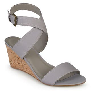 5d4ab10f3e63 Buy Grey Women s Wedges Online at Overstock