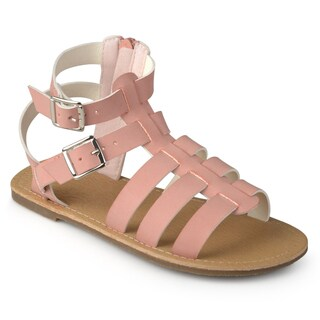 Journee Kids Girl 'Zoey' Buckle Faux Leather Gladiator Sandals