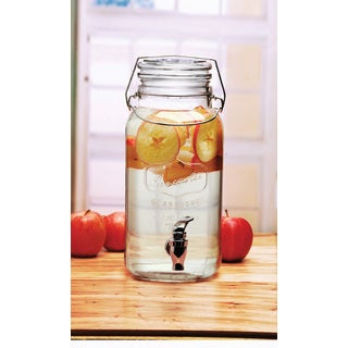 Locking 1-gallon Glass Beverage Dispenser