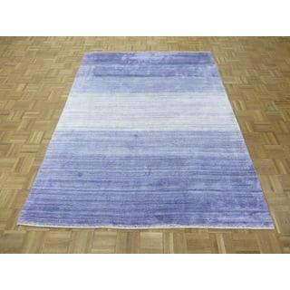 Purple Wool Modern Hand-knotted Oriental Rug (5'9 x 7'8)