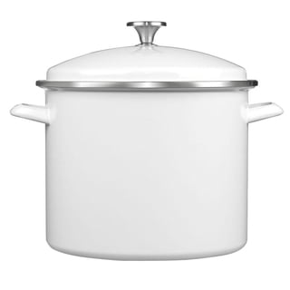 Cuisinart EOS126-28WS 3-Piece 12-Quart Stockpot/Steaming Set, White