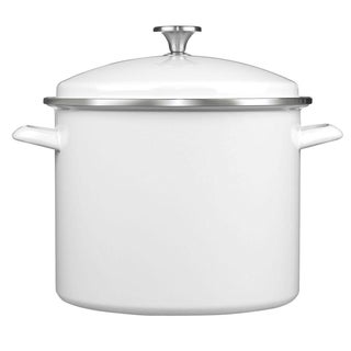 Cuisinart EOS126-28WS 3-Piece 12-Quart Stockpot/Steaming Set, White