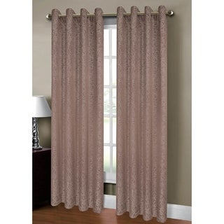 Window Elements Leila Jacquard 84-inch Extra-wide Grommet Curtain Panel Pair - 54 x 84