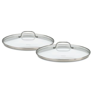 Cuisinart 71-2228CG Chef's Classic Stainless 2-Piece Glass Lid Set for 9-Inch and 11-Inch Skillets