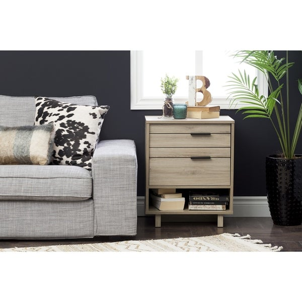 South Shore Fynn Nightstand with Cord Catcher
