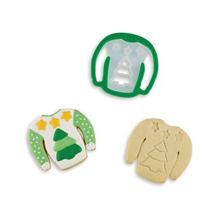 Bakelicious Pine Tree 'Ugly Christmas Sweater' Cookie Cutter