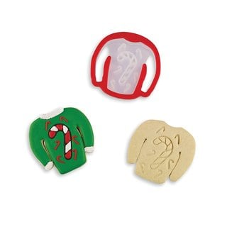 Bakelicious Candy Cane 'Ugly Christmas Sweater' Cookie Cutter