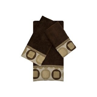Sherry Kline Metro Brown 3-piece Embellished Towel Set
