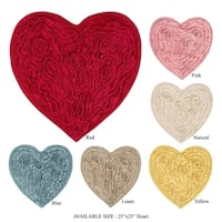 "BELLFLOWER HEART SHAPE RUG -(25""x25"")"