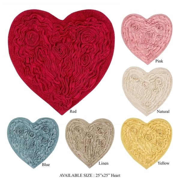 Porch & Den Carmen Floral Heart-shaped Bath Rug