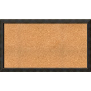 Framed Cork Board, Choose Your Custom Size, Signore Bronze Wood (More options available)