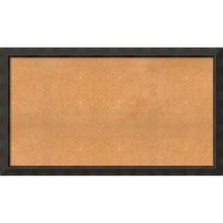Framed Cork Board, Choose Your Custom Size, Signore Bronze Wood