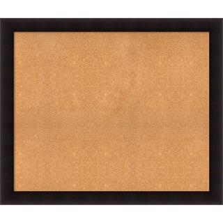 Framed Cork Board, Choose Your Custom Size, Portico Espresso Wood