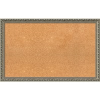 Framed Cork Board, Choose Your Custom Size, Parisian Silver Wood