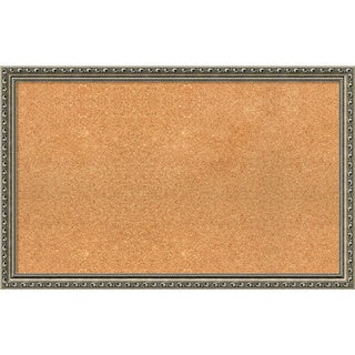 Framed Cork Board, Choose Your Custom Size, Parisian Silver Wood