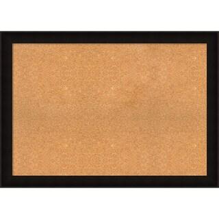 Framed Cork Board, Choose Your Custom Size, Manteaux Black Wood