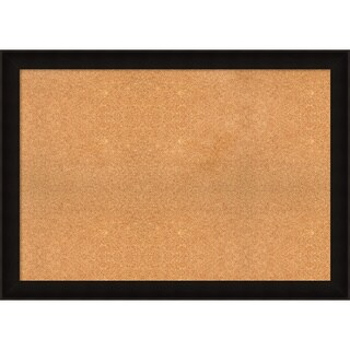 Framed Cork Board, Choose Your Custom Size, Manteaux Black Wood
