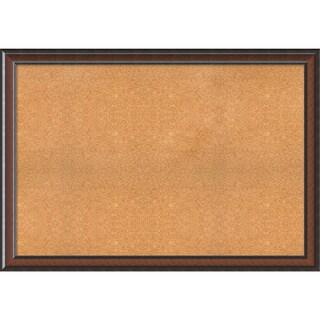 Framed Cork Board, Choose Your Custom Size, Cyprus Walnut Wood