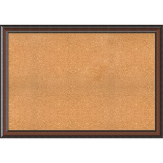Framed Cork Board, Choose Your Custom Size, Cyprus Walnut Wood
