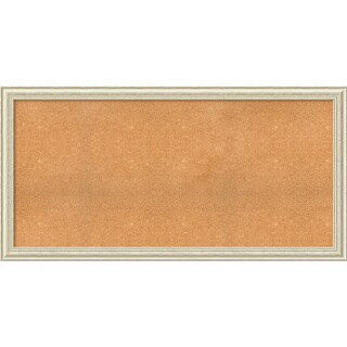 Framed Cork Board, Choose Your Custom Size, Country White Wash Wood