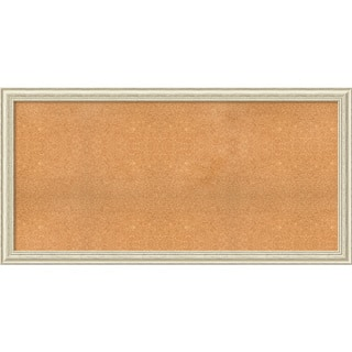 framed cork board choose your custom size country white wash wood - White Framed Cork Board