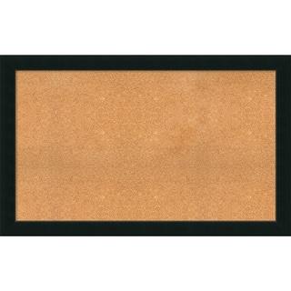 Framed Cork Board, Choose Your Custom Size, Corvino Satin Black Wood