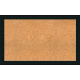 Framed Cork Board, Choose Your Custom Size, Corvino Satin Black Wood