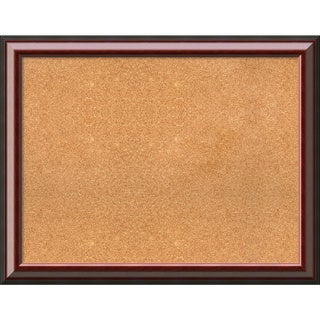 Framed Cork Board, Choose Your Custom Size, Cambridge Mahogany Wood (More options available)
