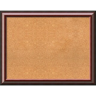 Framed Cork Board, Choose Your Custom Size, Cambridge Mahogany Wood