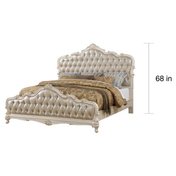 Shop Acme Furniture Chantelle 4-Piece Bedroom Set, Rose Gold ...
