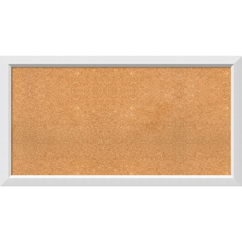 Framed Cork Board, Choose Your Custom Size, Blanco White Wood