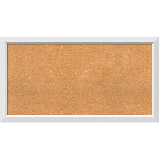 Framed Cork Board, Choose Your Custom Size, Blanco White Wood (More options available)