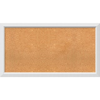 Framed Cork Board, Choose Your Custom Size, Blanco White Wood