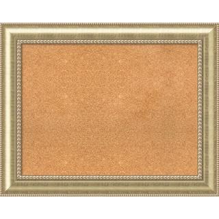 Framed Cork Board, Choose Your Custom Size, Astoria Champagne Wood