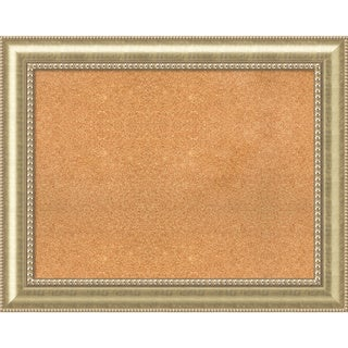 Framed Cork Board, Choose Your Custom Size, Astoria Champagne Wood (More options available)