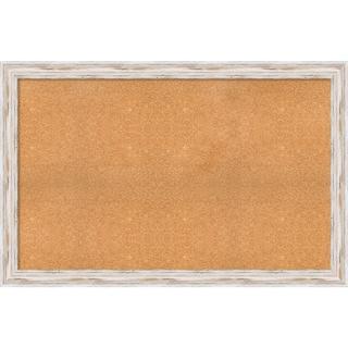 Framed Cork Board, Choose Your Custom Size, Alexandria White Wash Wood