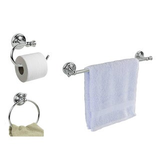 Home Basics Chrome Finish Wall Mounted Towel/Toilet Paper Racks