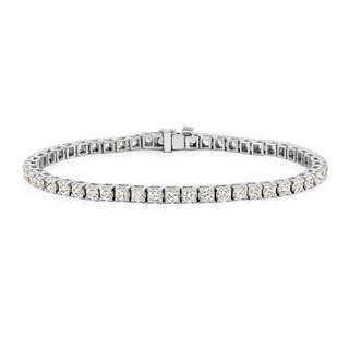 Auriya 14k Gold 5ct TDW Round 7-inch Diamond Tennis Bracelet