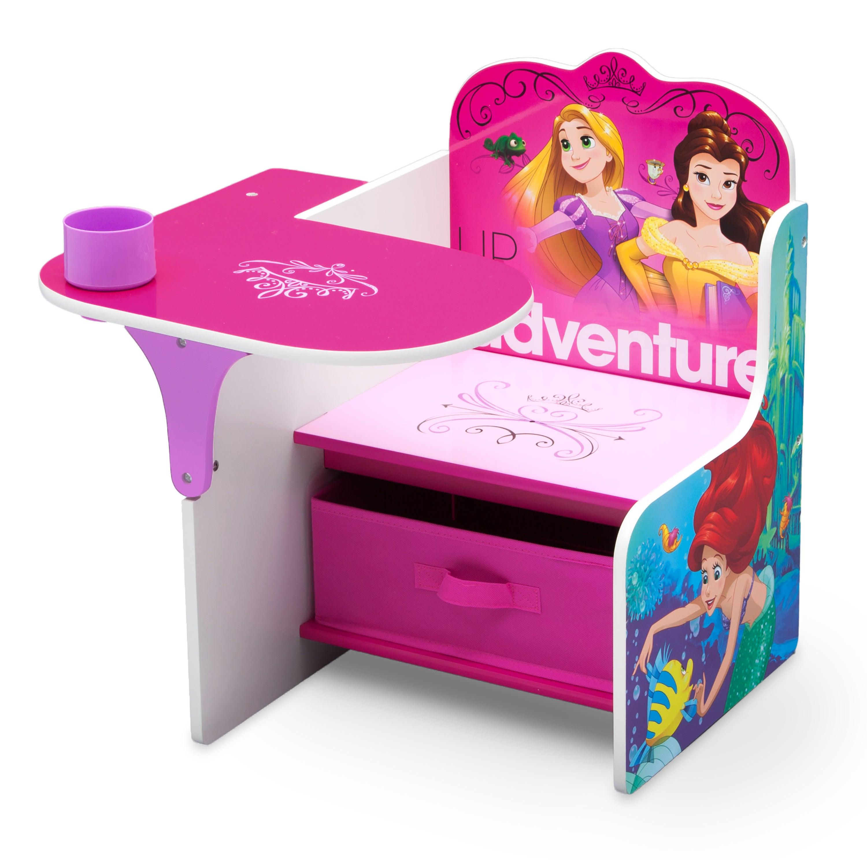 Disney Princess Chair Desk with Storage (Princess), Blue