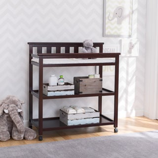 Delta Children Flat Top Changing Table with Casters, Dark Chocolate