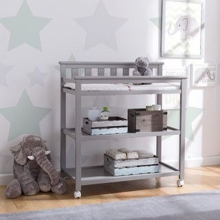 Delta Children Flat Top Changing Table with Casters, Grey
