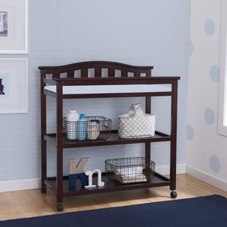 Delta Children Bell Top Changing Table with Casters, Dark Chocolate