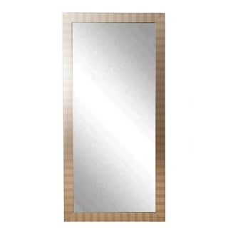 Silver Wood Modern Manhattan Floor Mirror