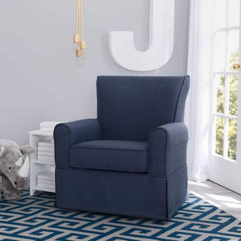 Delta Children Epic Nursery Glider Swivel Rocker Chair, Sailor Blue