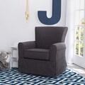 Delta Children Epic Nursery Glider Swivel Rocker Chair, Charcoal