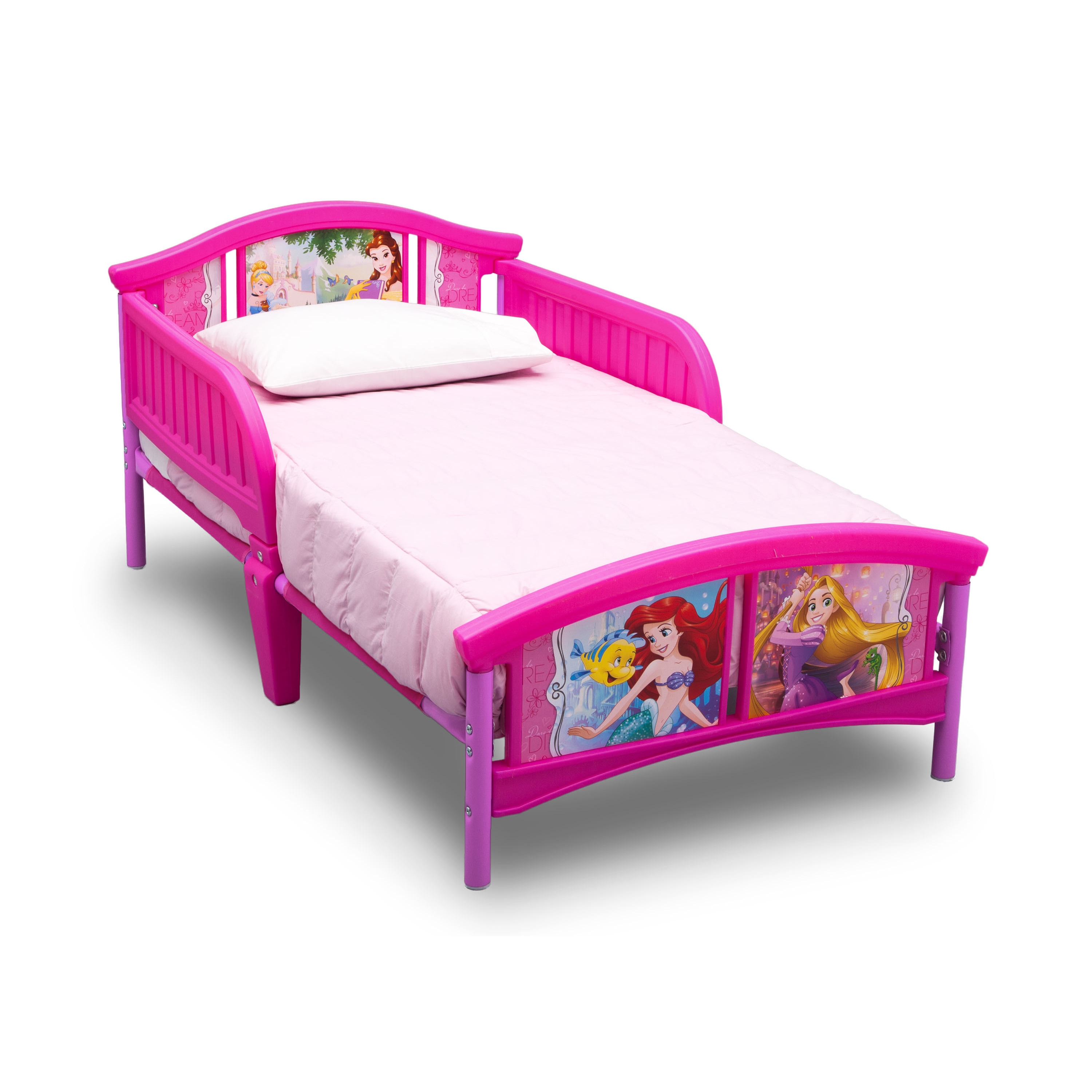 Picture of: Disney Princess Plastic Toddler Bed Overstock 14154924