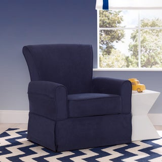 Delta Children Benbridge Nursery Glider Swivel Rocker Chair, Navy